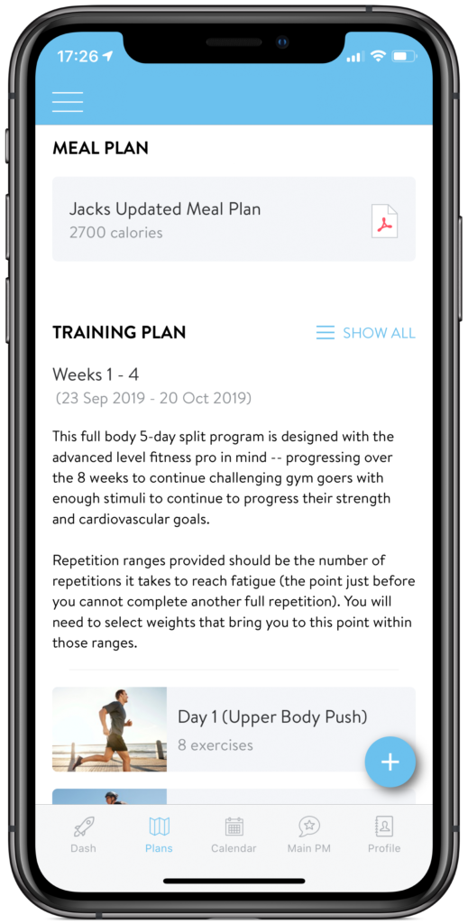 fitlife mobile meal plan for online training